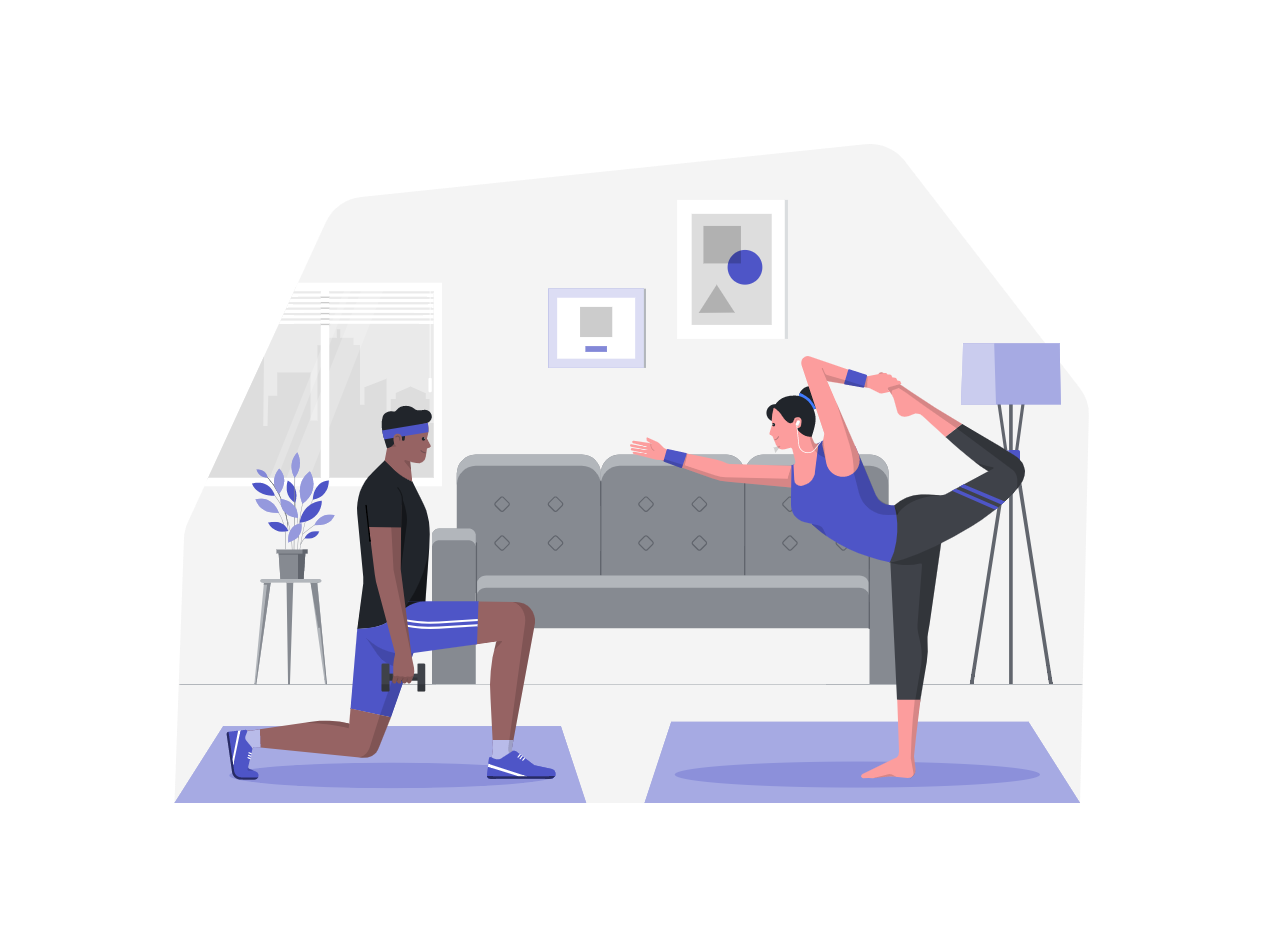 how to decompress from work from home stress - exercise