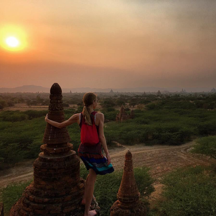 Megan Gougeon - Enjoying the sunset.