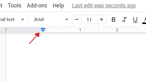How to do a hanging indent on Google Docs