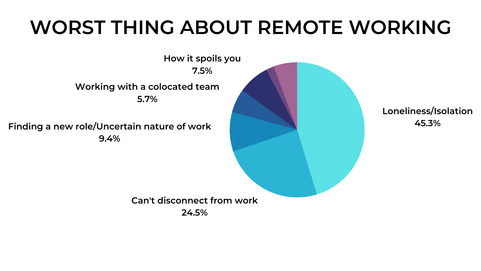 Remote Work Interviews - Worst thing about remote working