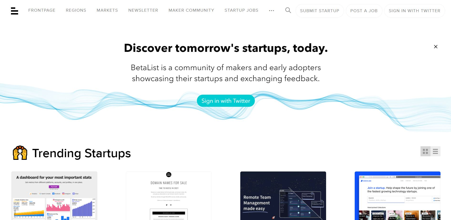 side project tools - betalist