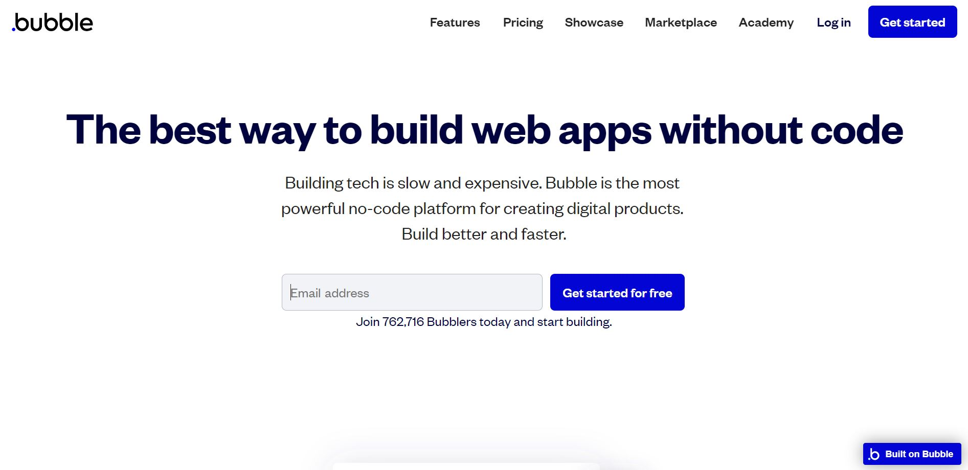 side project tools - bubble