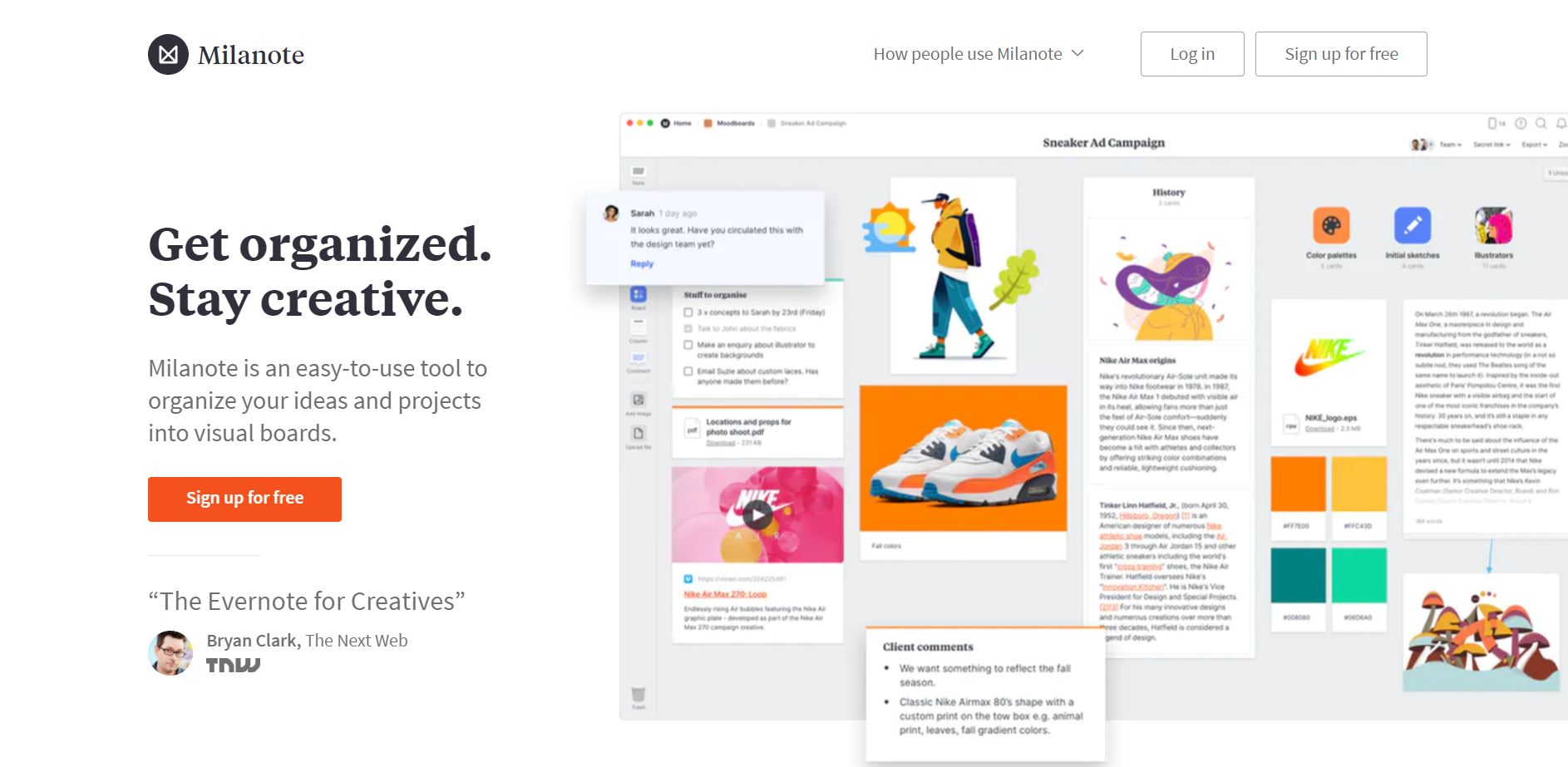 side project tools - milanote