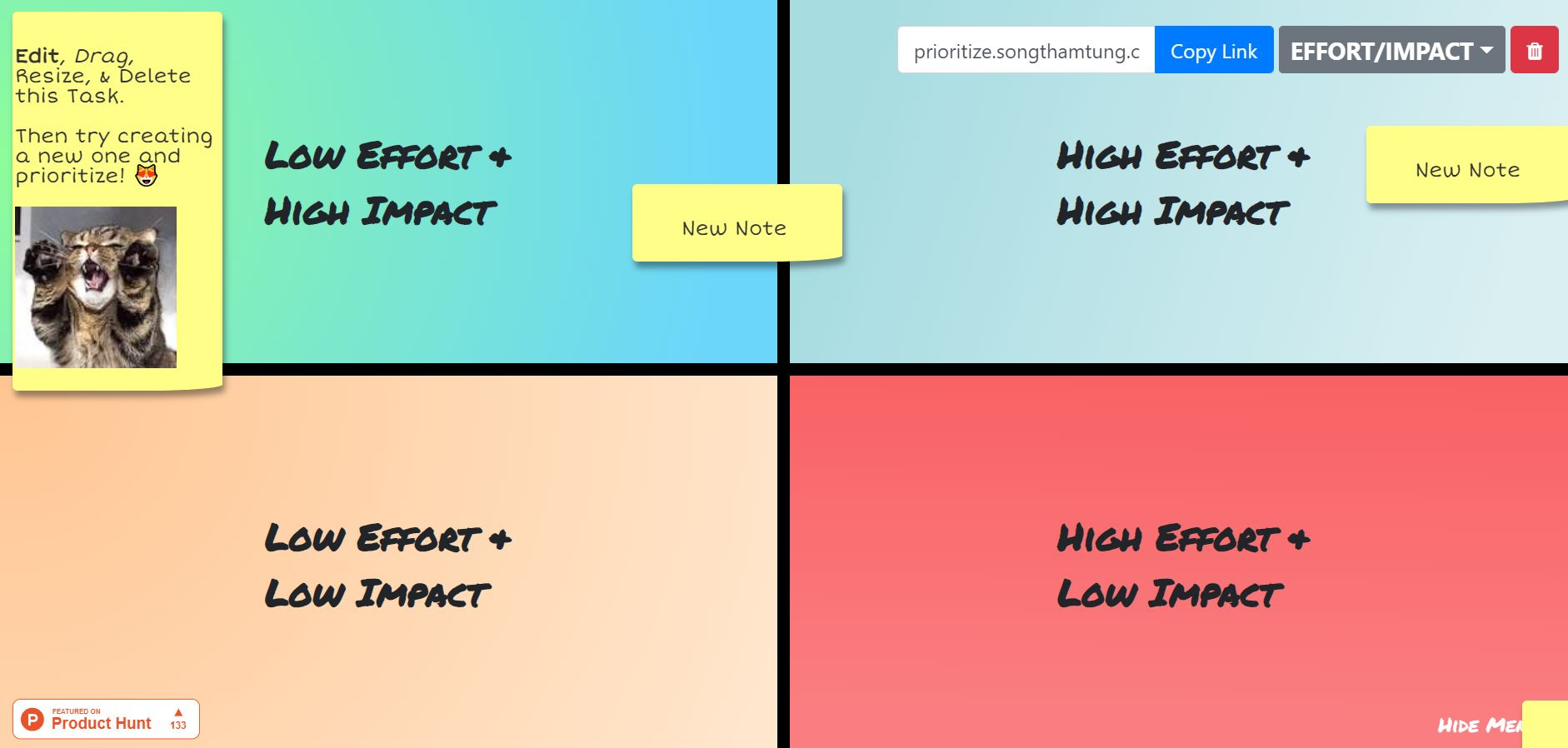 side project tools - prioritize