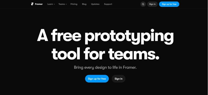 free developer tools - framer