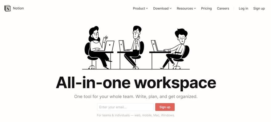 free developer tools - notion