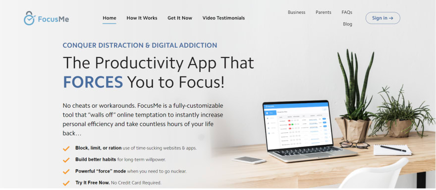 free remote working tools - focusme