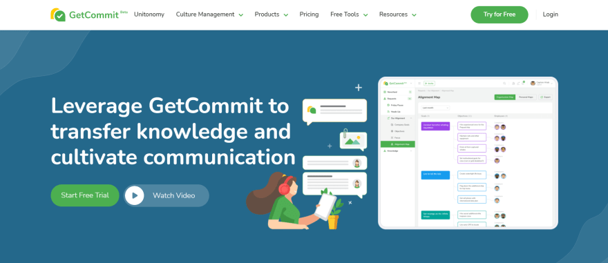 free remote working tools - getcommit