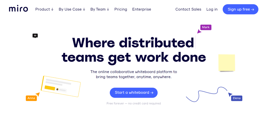 free remote working tools - miro
