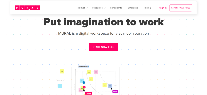 free remote working tools - mural