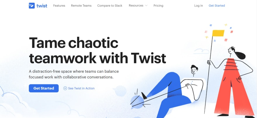 free remote working tools - twist