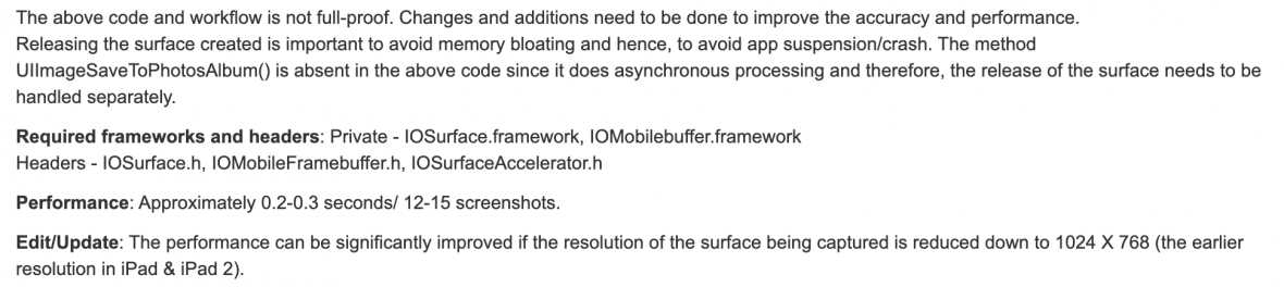 iOS Private Frameworks 1